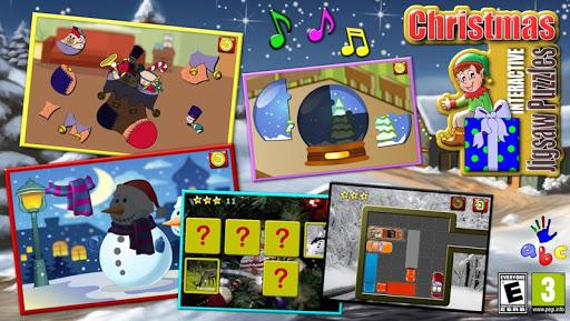 孩子們聖誕拼圖遊戲