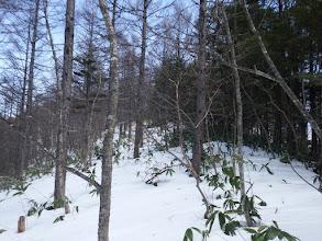 雪が腐り始め休憩しながら登る