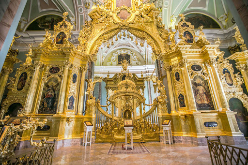saints-peter-and-paul-sanctuary-2.jpg - The Cathedral of Sts. Peter and Paul boasts a golden iconostasis that dates to 1727.