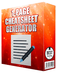1 Page Cheat Sheet generator