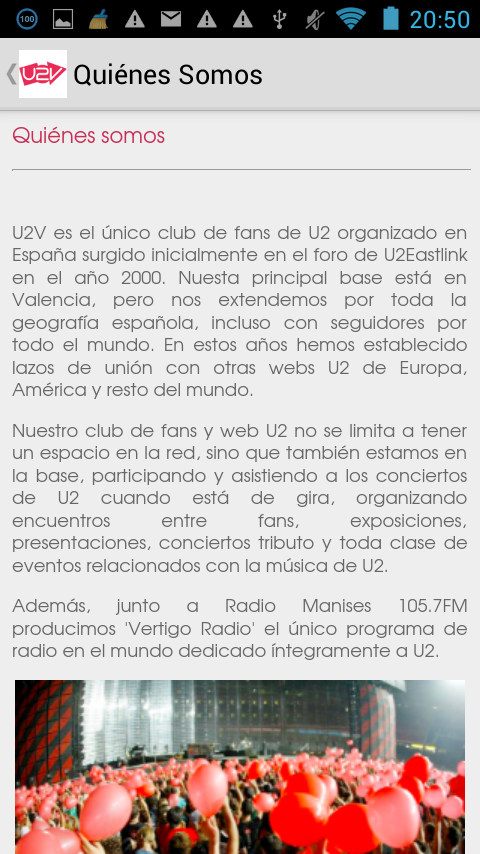 U2Valencia- screenshot