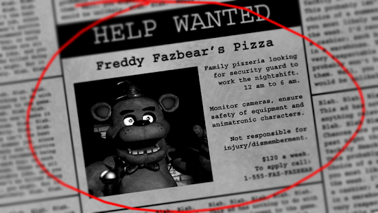 Five Nights at Freddy's v 2 0 apk + hack mod (Everything
