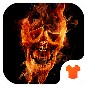 Hell Skull Fire 3D Theme Icon