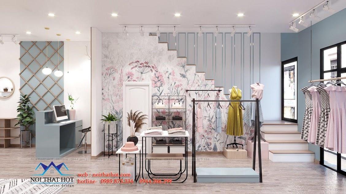 thiết kế shop thời trang nữ dova trẻ trung