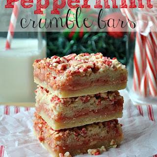 Peppermint Crumble Bars