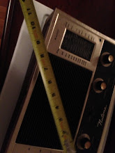 Photo: Measurement reference for the speaker grill on the control unit.
