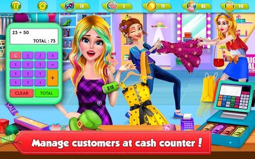 Shopping Mall Girl Cashier Game 2 - Cash Register  screenshots 1