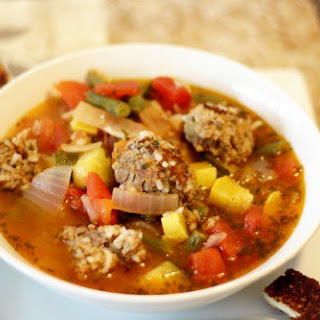 Bison Meatball Soup