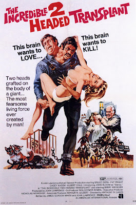 The Incredible 2-Headed Transplant (1971, USA) movie poster