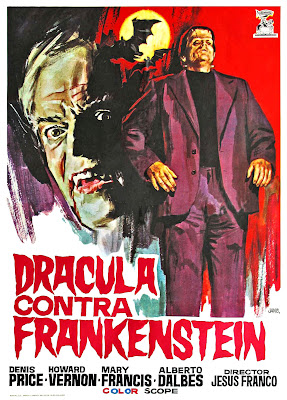 Dracula, Prisoner of Frankenstein (Drácula contra Frankenstein, aka Dracula vs. Dr. Frankenstein) (1972, Spain / France) movie poster