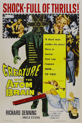 Creature with the Atom Brain (1955, USA) movie poster