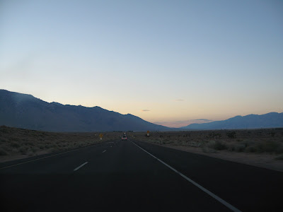 驶向Death Valley的路上