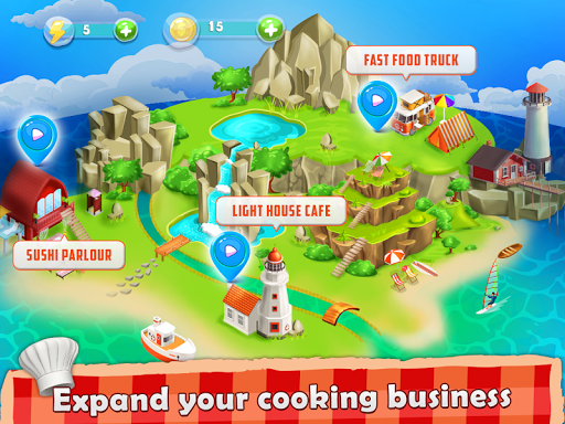 Cooking Island - A Chef's Cooking Game for Girls android2mod screenshots 2