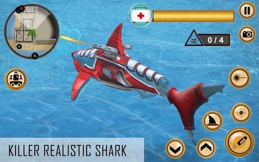 Super Shark Robot Wars 2019 - 3D Transformer Game 7.0 screenshots 2