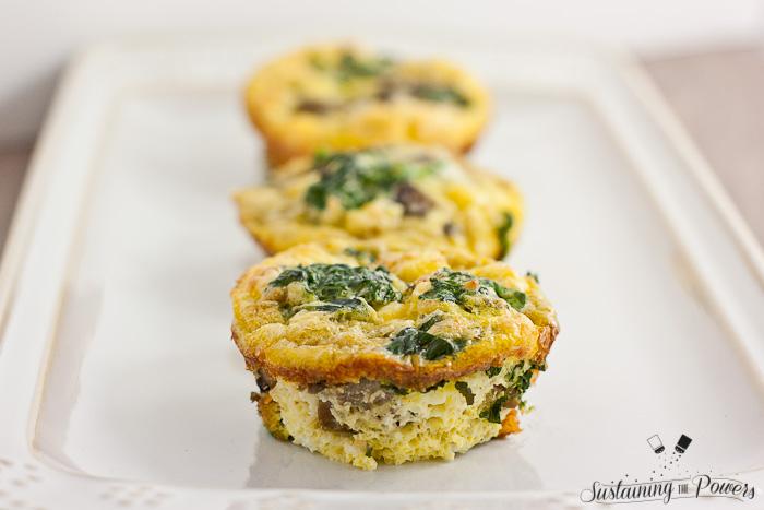 Mini Mushroom, Feta and Spinach Frittatas Recipe | Yummly
