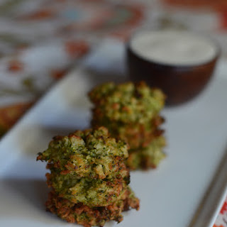 Broccoli Tots with Lemon Aioli