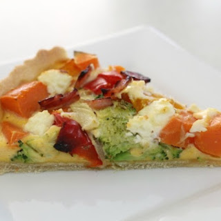 Delicious and Nutritious Roast Vegetable Quiche.