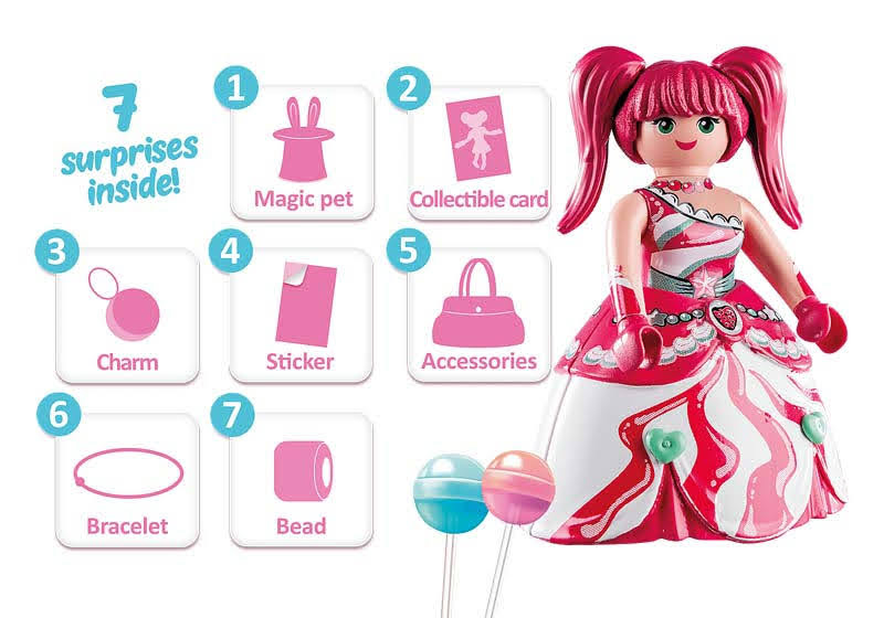 Contenido real de Playmobil® 70387 Candy World: Starlenn