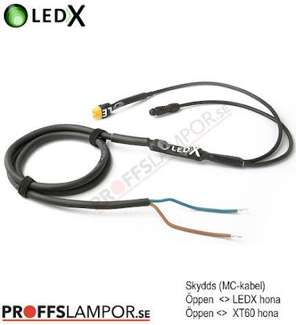 Tillbehör Skyddskabel LEDX MC-kabel 2 lampor