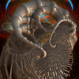 Spin Rush by Rick Eskridge - Illustration Abstract & Patterns ( abstract, jwildfire, mb3d, fractal, twisted brush )