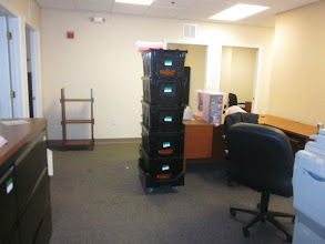 Photo: More Bungo Boxes and bubble wrap...Mercantile Capital Corporation's old office is starting to look empty! www.504Experts.com