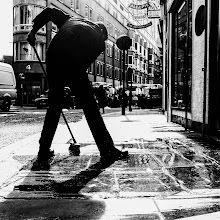 Photo: London #47 - clean up...  #street #streetphotography #shootthestreet #blackandwhite #blackandwhitephotography #bw #monochrome #london