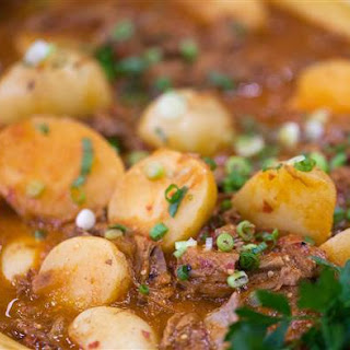 One-Pot Mexican Steak and Potato Stew with Guajillo Sauce.