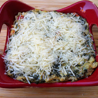 Roasted Red Pepper, Spinach and Artichoke Dip.