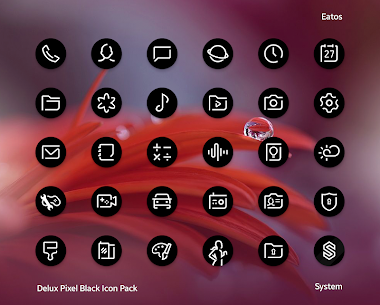 Delux Black – Round Icon Pack (MOD, Paid) v1.3.1 2