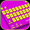 Purple Yellow Stripes Keyboard Theme icon
