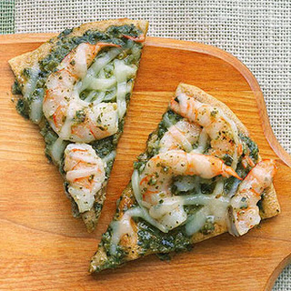 Pesto Shrimp Pizza