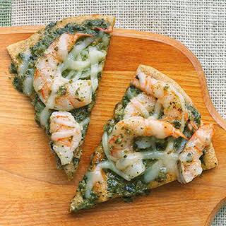 Pesto Shrimp Pizza.