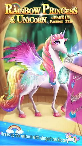 ud83dudc78Rainbow Princess & Unicorn Makeup - Fashion Trip 1.5.5009 screenshots 3