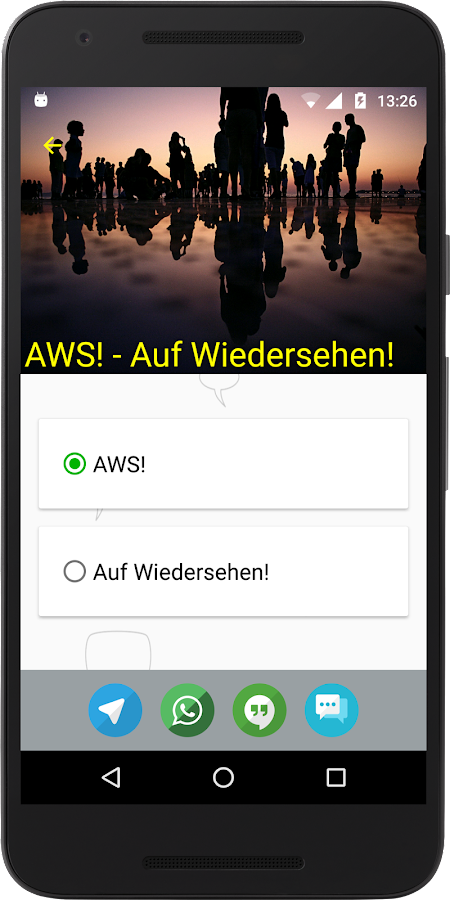 Wähle Text Lite for WhatsApp- screenshot