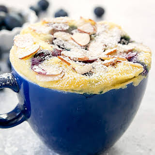 Blueberry Almond Mug Cake (Paleo, Gluten Free).