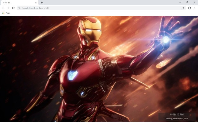 Iron Man New Tab & Wallpapers Collection