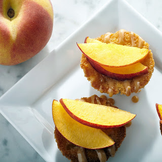 Mini Peach Cupcakes.