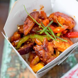 Crispy Chilli Plum Chicken.