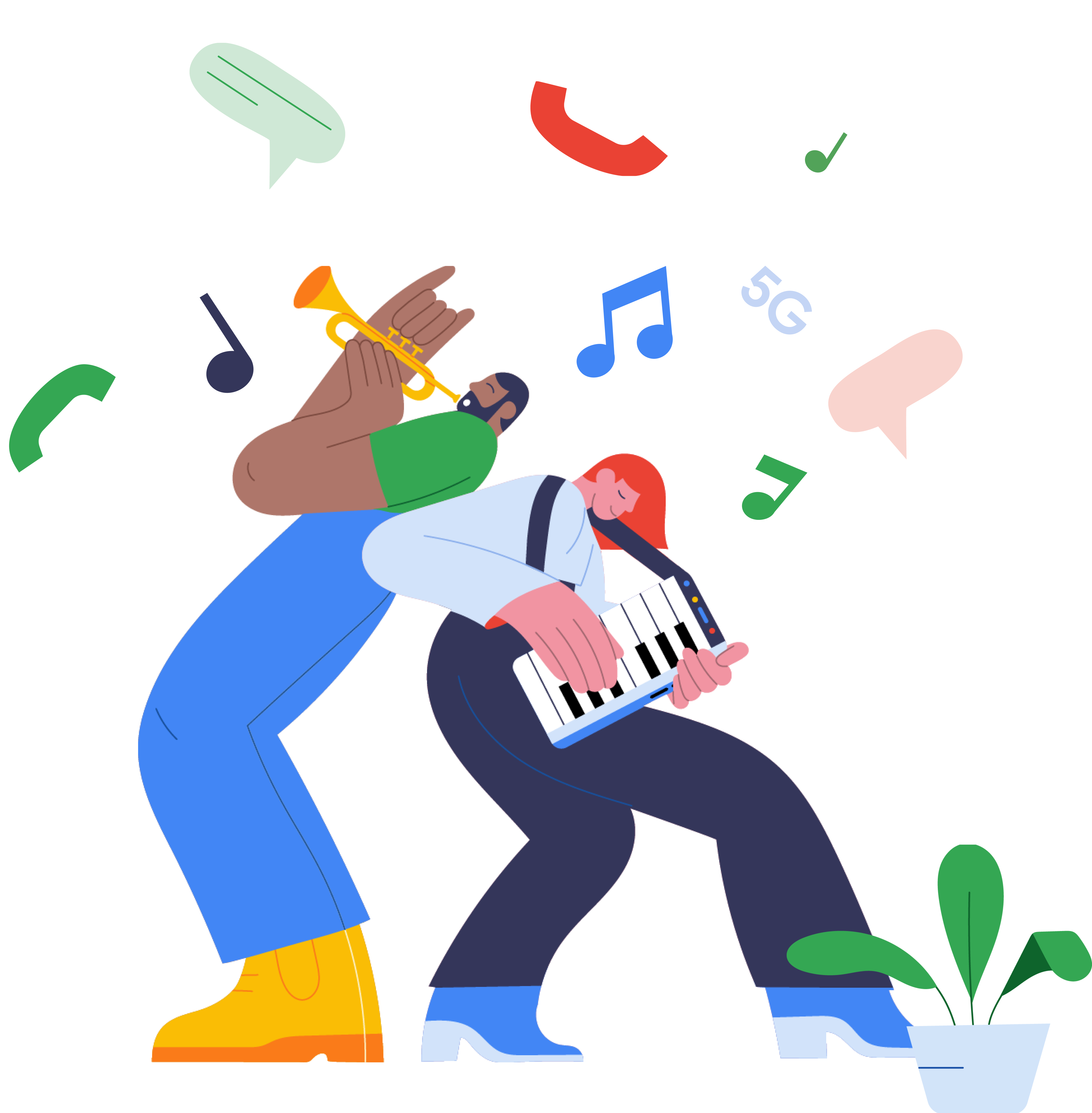 People playing music