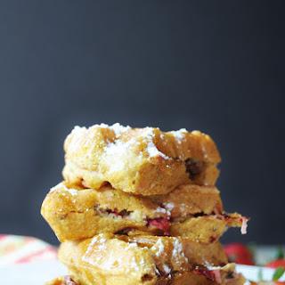 Southern Strawberry Pecan Waffles (Egg-free, Dairy-free, Vegan)