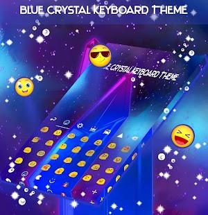 Téma klávesnice Blue Crystal - náhled