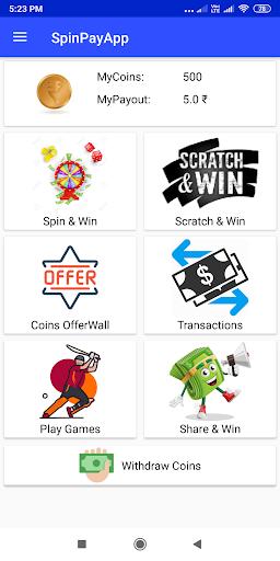 SpinPayApp - Earn Free Paytm, Paypal Cash 1.2 screenshots 2