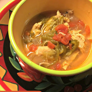 Green Chile Rajas & Chicken Crock Pot Soup