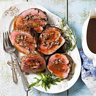 Beef Tenderloin with Parmesan-Herb Stuffing.