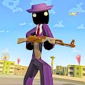 Stickman Mafia Theft Gangster Blocky City icon