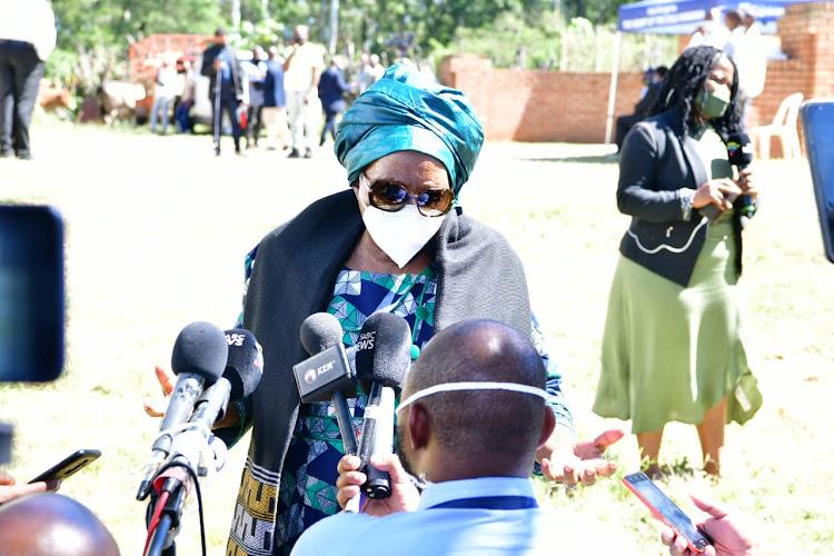 Nkosazana Dlamini-Zuma at KwaKhethomthandayo Royal Palace.