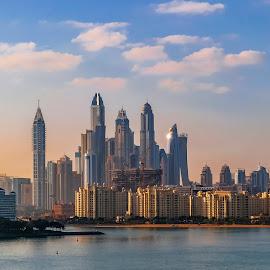 Dubai sunrise by Eduard Andrica - City,  Street & Park  Skylines