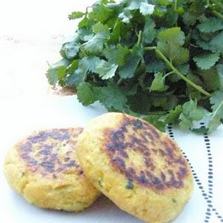 Easy Chickpea & Coriander Patties.
