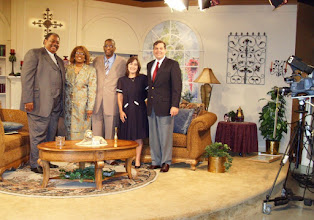 Photo: On the set at TBN. See an excerpt on YouTube: http://www.youtube.com/watch?v=NVAjNnhaqW8