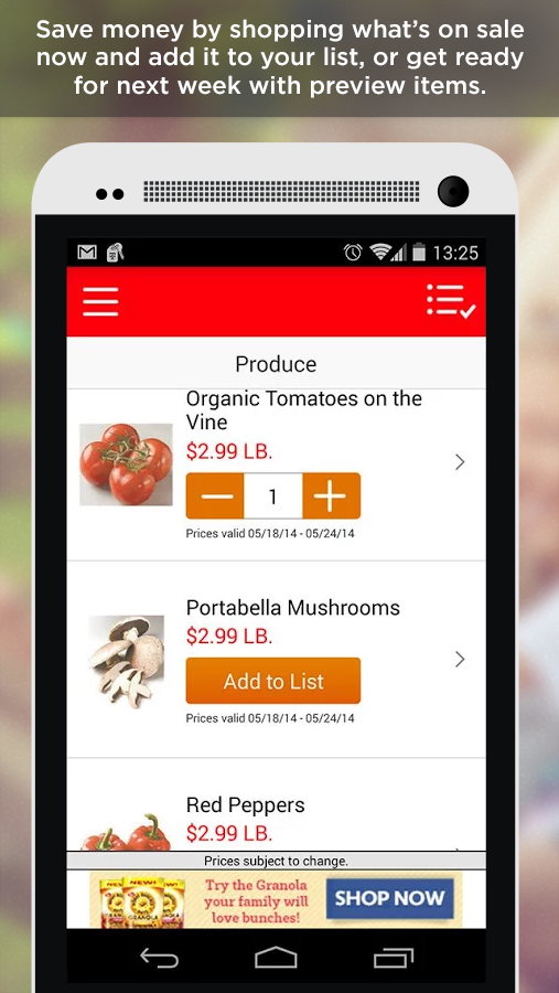 Screenshots of ShopRite for iPhone